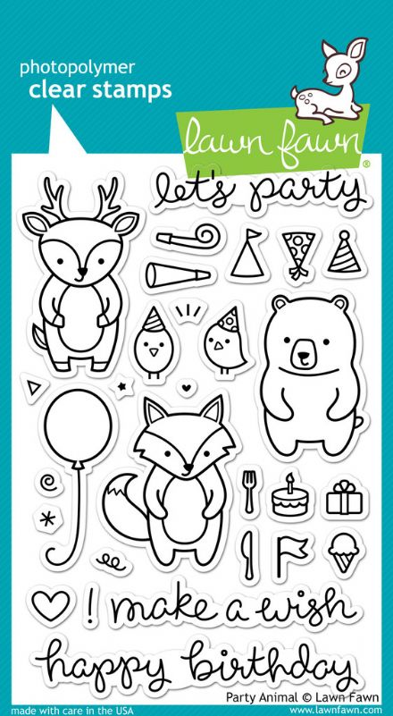 LF0893 ~ PARTY ANIMAL ~ CLEAR STAMPS BY LAWN FAWN